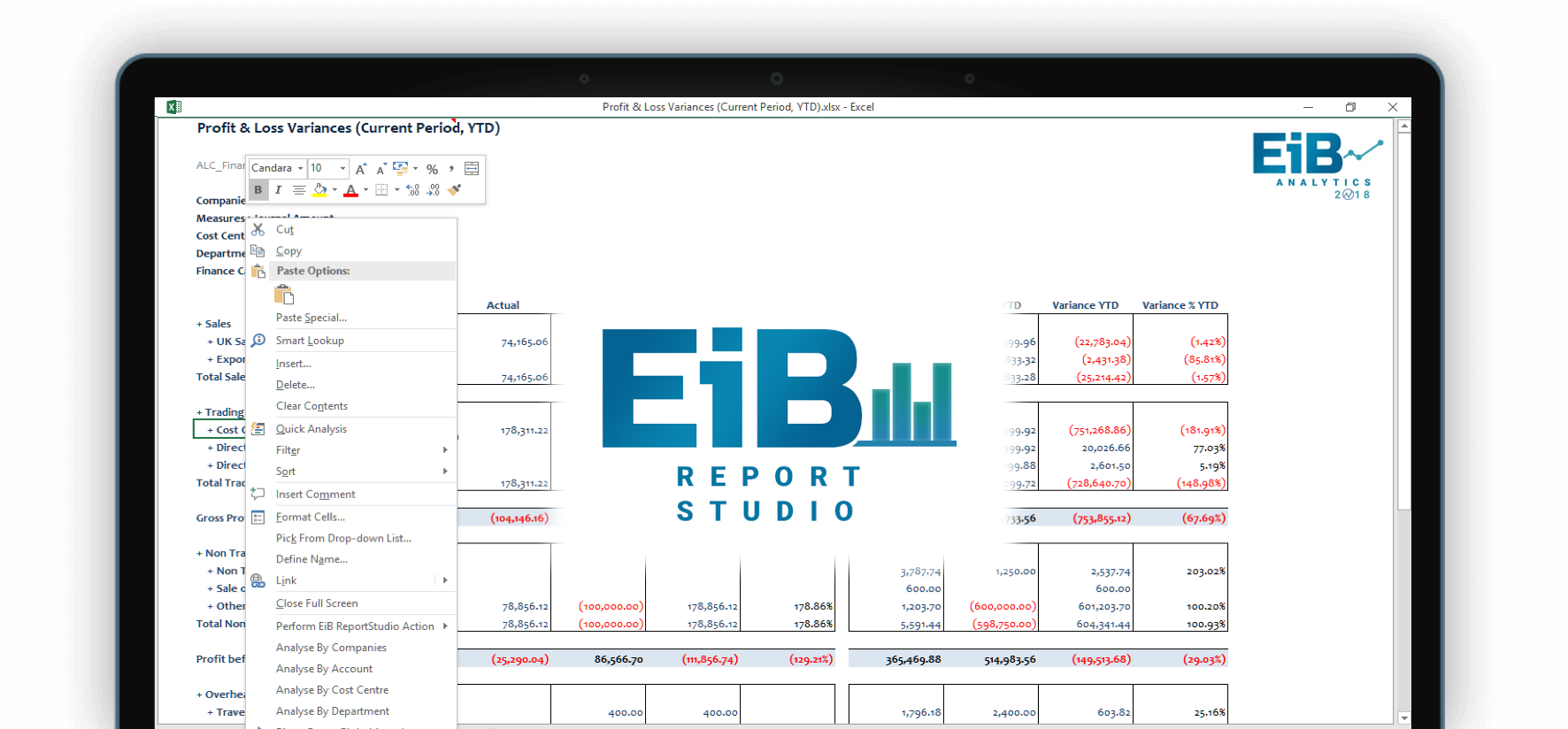 EiB Report Studio 2018 Screenshot
