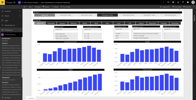 EiB Insurance Analytics Page - Screen shot 3