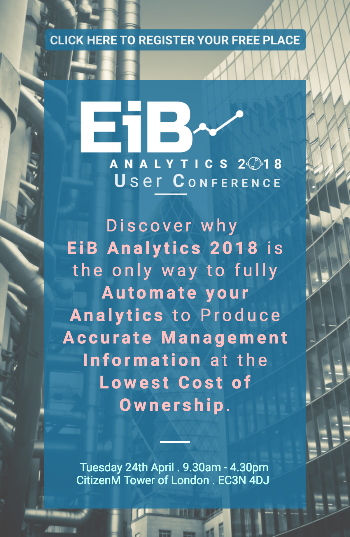 EiB Analytics User Conference 2018 Flyer