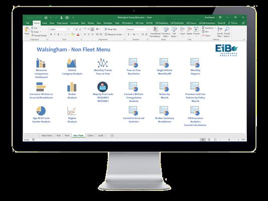 EiB Insurance Analytics - Walsingham Motor Insurance - Non Fleet Menu