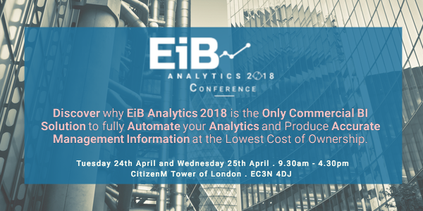 EiB Analytics 2018 Conference - The Future of Automated MI