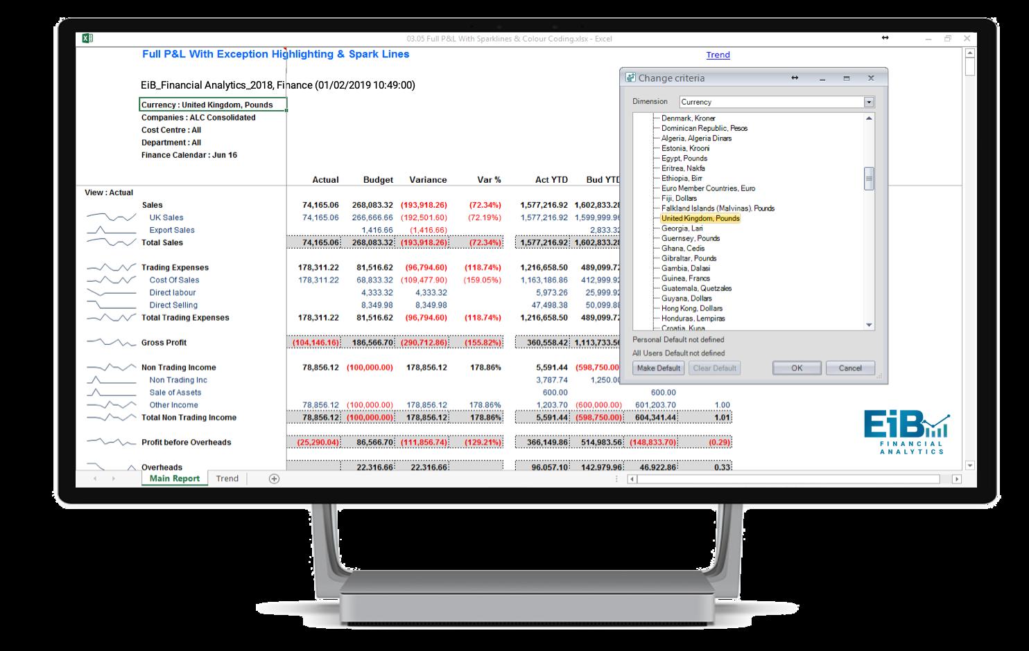 EiB Financial Analytics 2018 -Multi-Currency Module